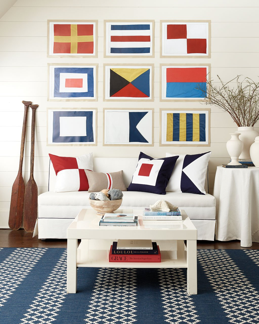 summer 2017 inspiration with suzanne kasler how to decorate ballard designs suzanne kasler french bisque lamp slips and more shop suzanne kasler seafarer nautical flags suzanne kasler seafarer throw pillow