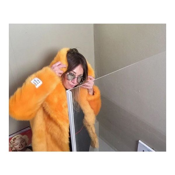 9e11ddd06 @stylepit is stocking the HEATHER mustard with 50% off! Grab a bargain 🐤.  📷 @the_salty_blonde 💛 We are #freefromfur #Jakke #jakkeldn #fauxfurcoat  ...