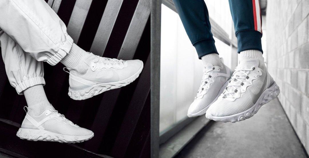 Nike Element React 55 Triple White