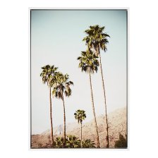Shop Trees Light Blue Canvas Wall Art and more