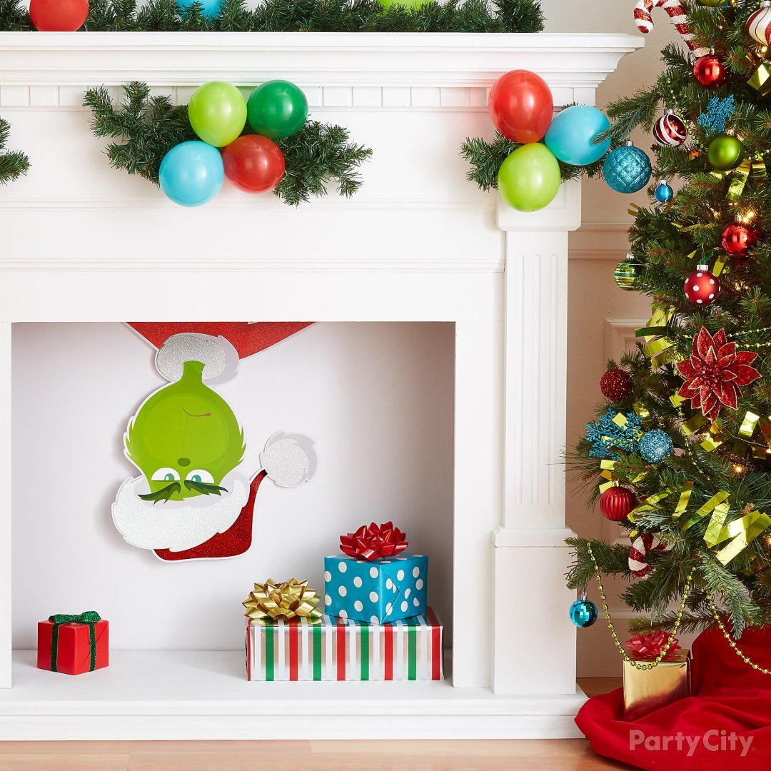 grinch christmas decorating and party ideas party city. Black Bedroom Furniture Sets. Home Design Ideas