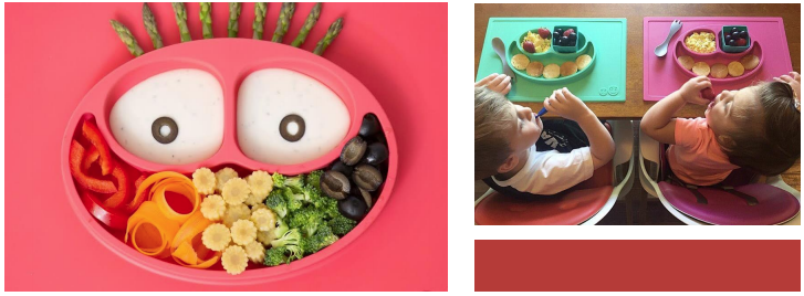 e z p z mat toddler food spread
