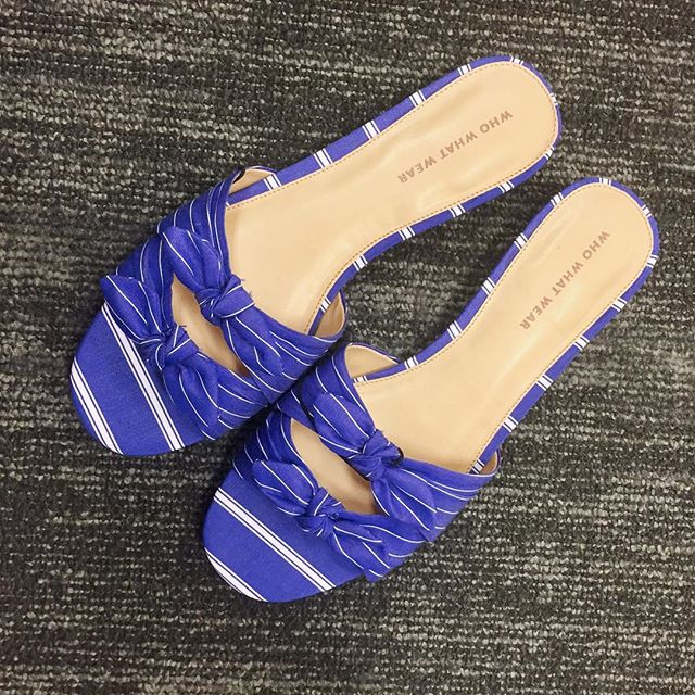 32d456c78 ... Women s Florence Striped Bow Slide Sandals - Who What Wear! see all  your loves · instagram photo by Box Store Style