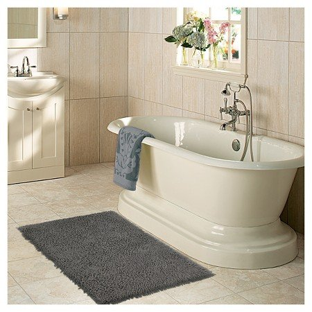 Glam up a tired bathroom - Heidi Milton - ideas to add glam - plush bath mat - Mohawk Home - memory foam bath mat
