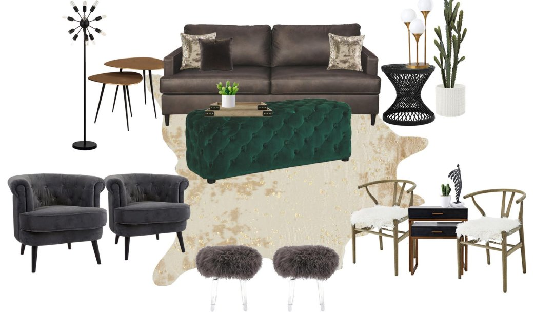 Curated image with Hettinger Sofa, Ash, Lister Accent Ottoman, Green, Shemleigh Accent Table (Set...