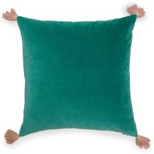 Velvet Decorative Throw Pillow With Tassels By Drew Barrymore Flower Home Guatemalan Green