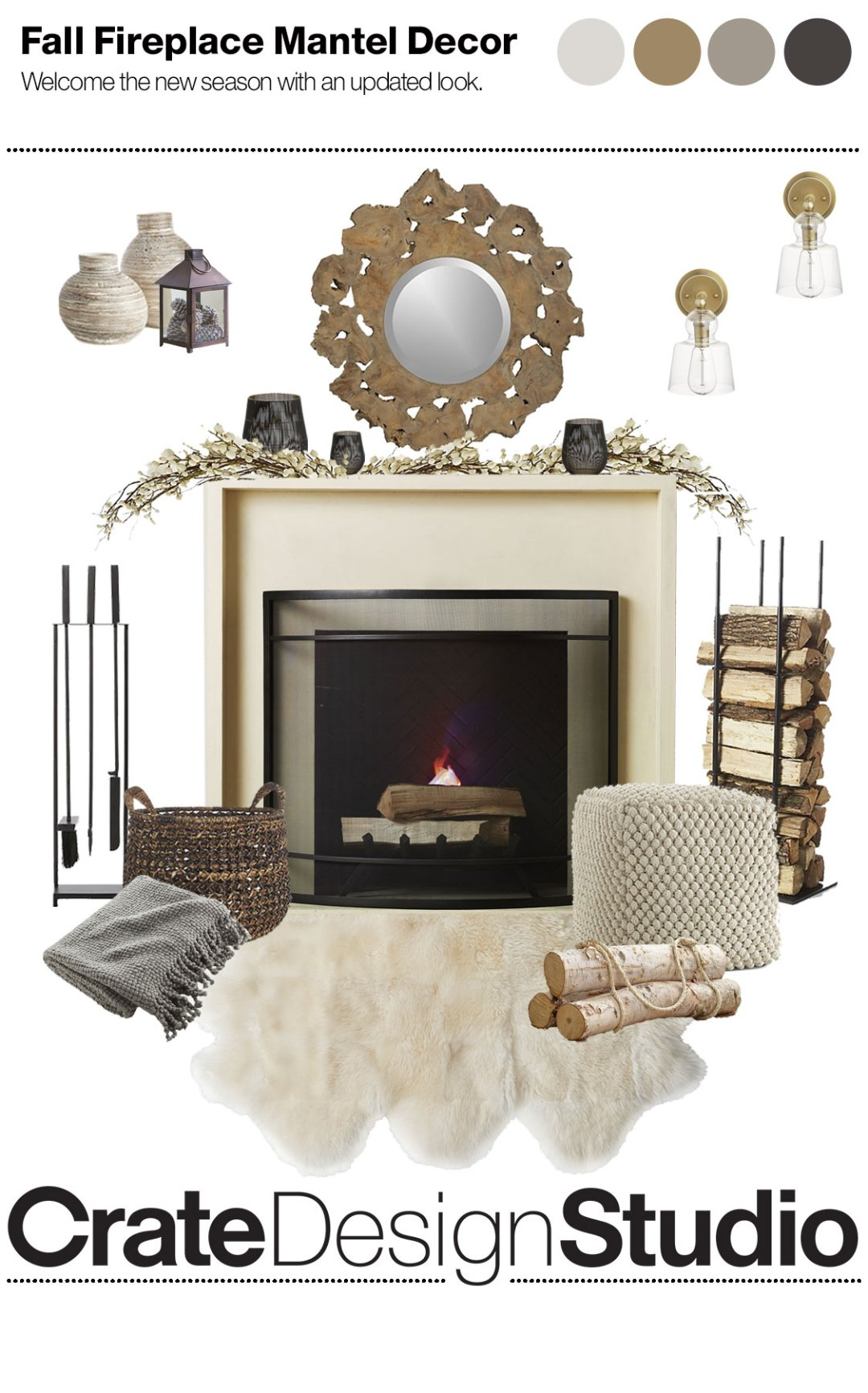 How To Create A Seasonal Mantelpiece Crate And Barrel Blog