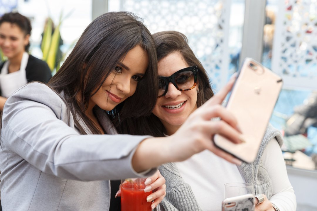 Women taking a selfie