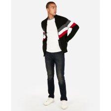 Shop Chevron Zip Front Baseball Sweater Black Men's XXL Tall and more