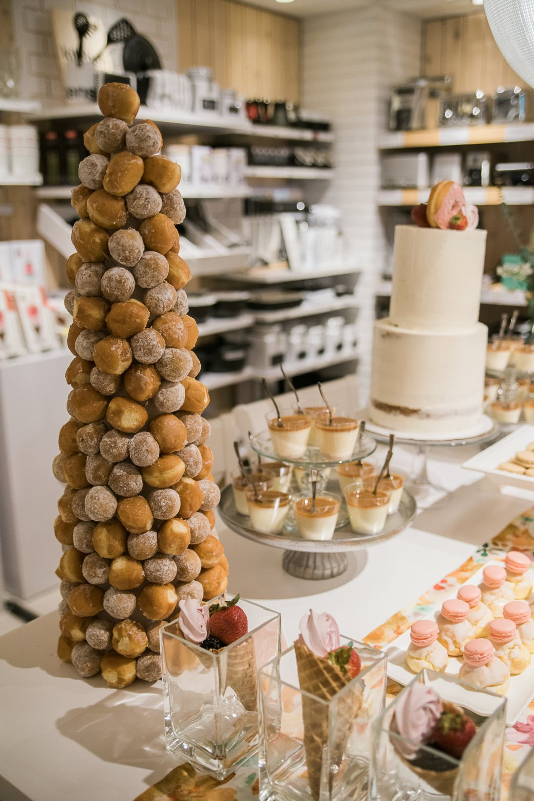 Doughnut hole tree display at Private Registry Event