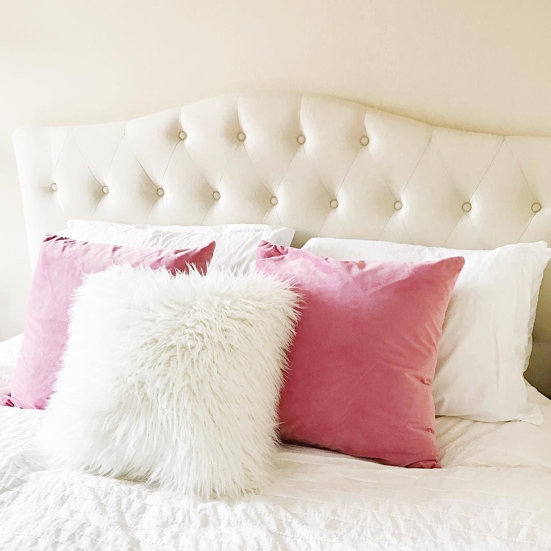 Cream Fur Throw Pillows : Cream Mongolian Faux Fur Throw Pillow (18