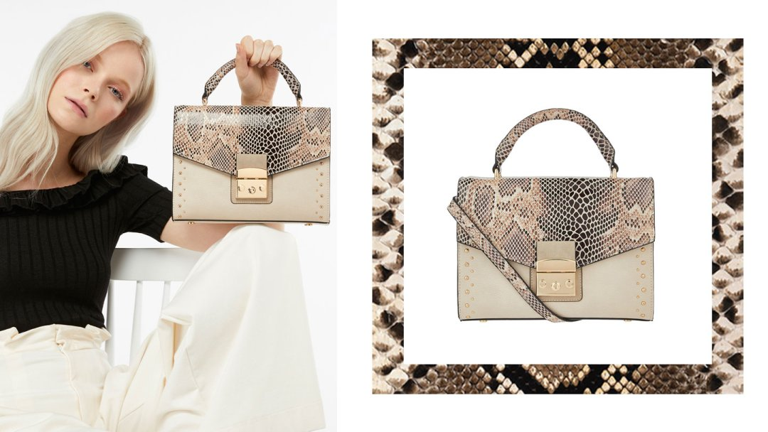 a6703dbb88 Curated image with Accessorize Snake Studded Hand Bag ...