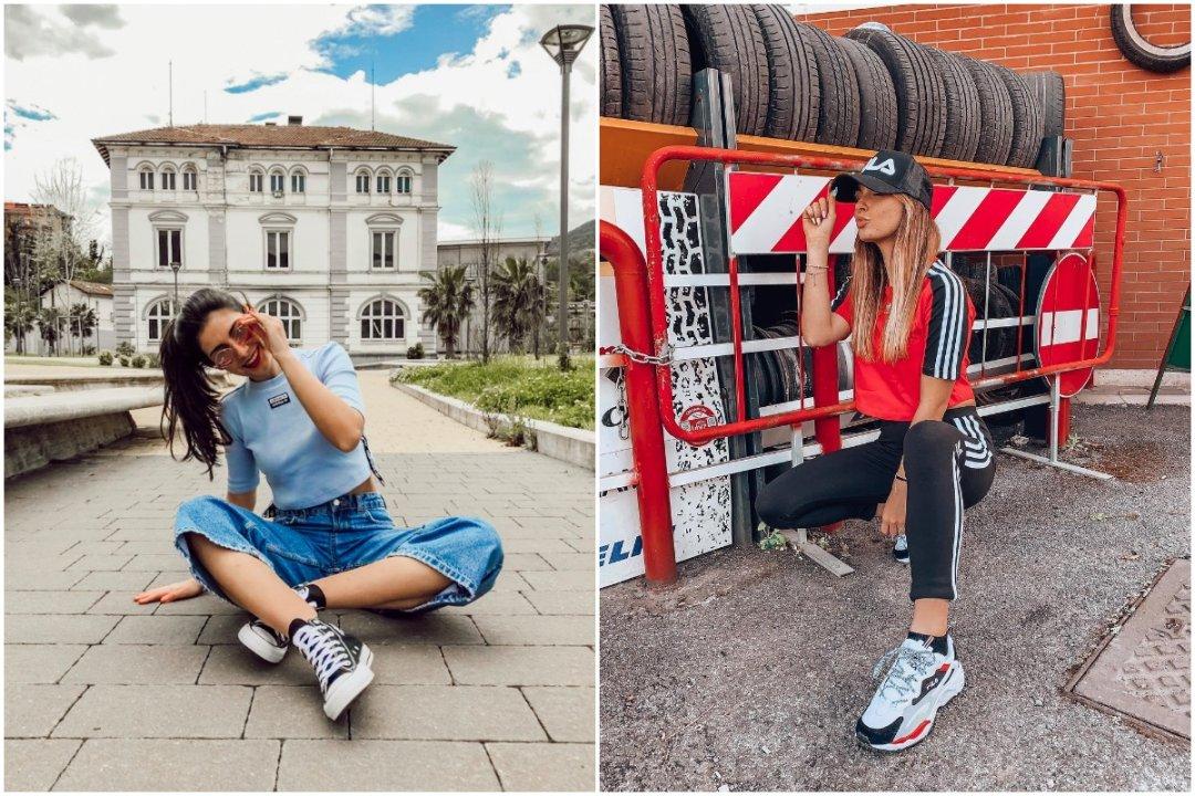 Outfit streetwear per le vacanze di adidas Originals, Converse e Fila