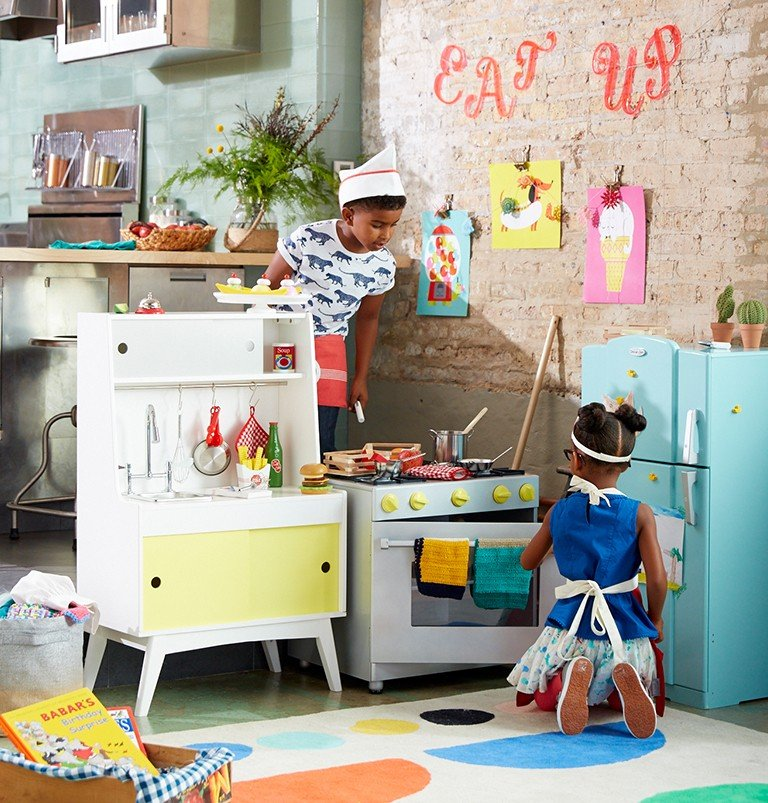 A play kitchen for kids gives them the perfect place or pretend play