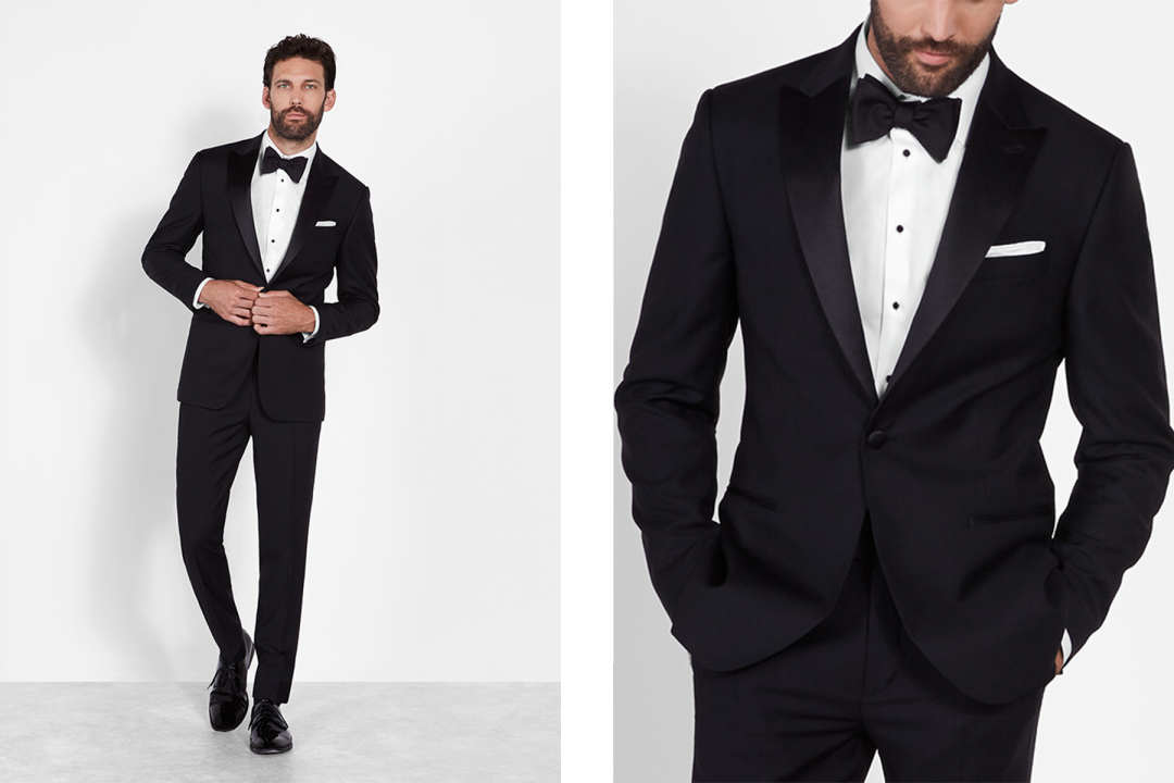5e2493349 Each of these tuxedos have a single-button closure, which is more formal  than the two buttons you'd typically find on a suit jacket.