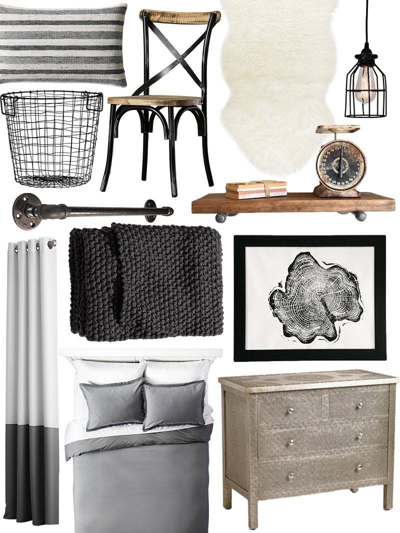 create the look: warm industrial bedroom shopping guide