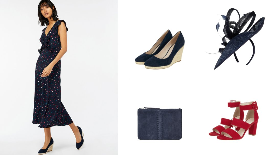 9ce32ac3f Curated image with Monsoon Sasha Spot Print Frill Dress Navy 14, Monsoon  Eva Espadrille Wedge ...