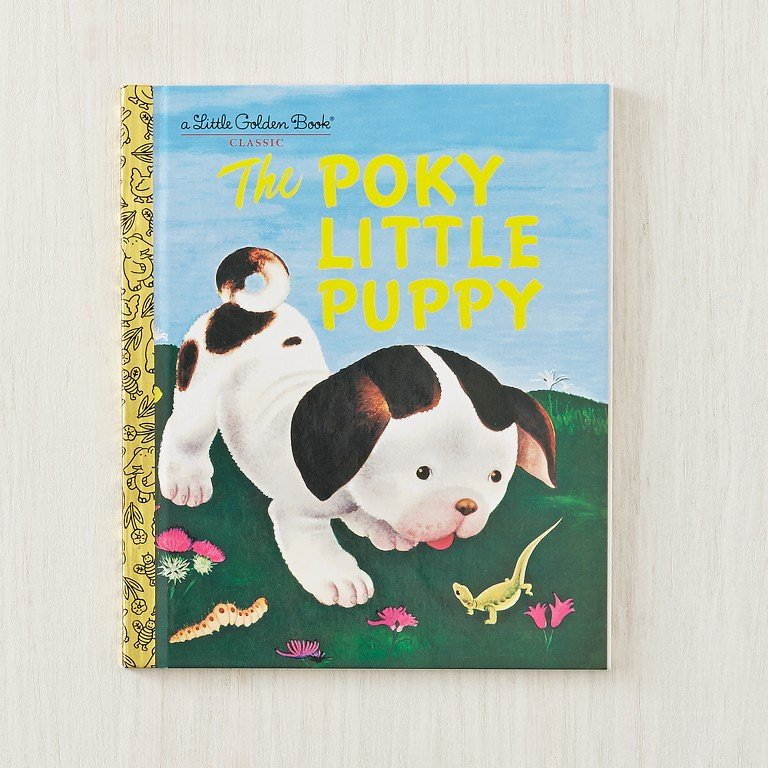 The Poky Little Puppy, a classic children's book from Little Golden Books