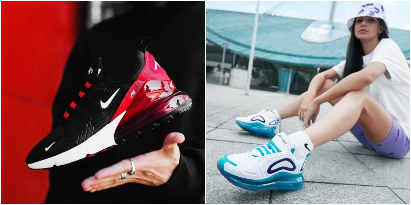 Zapatillas Nike Air Max 270 y Air Max 720