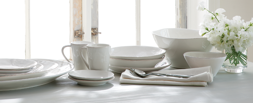 White dinnerware and serveware