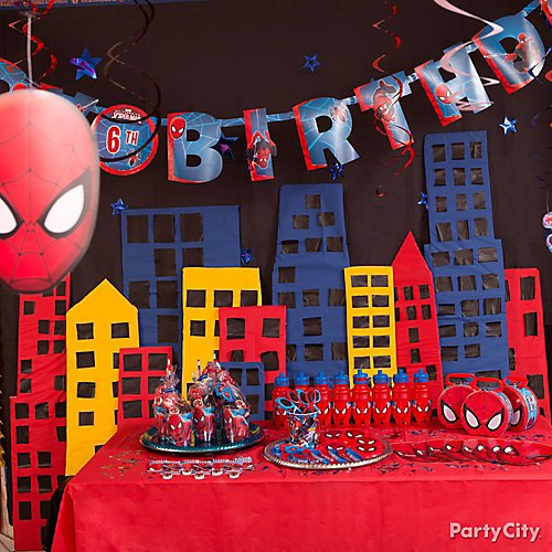 Spider Man Favor Box for Party and Decoration Baby Shower First Birthday