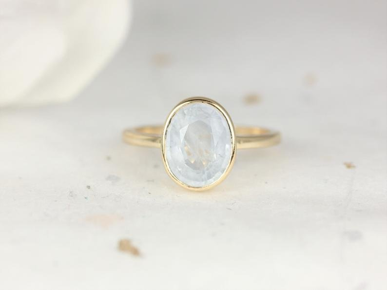 Icy Frosted Aqua Blue Sapphire Galaxy Ring