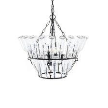 Shop Meghan Black Glass Chandelier and more