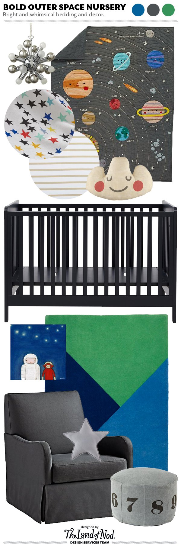 Design spotlight outer space themed nursery honest to nod for Outer space design