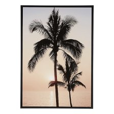 Shop Palm Trees Orange Canvas Wall Art and more