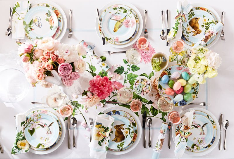 Host a Festive Brunch This Easter L?Spring_Garden_Salad_Plates%2C_Set_of_4%2C_Spring_Garden_Napkins%2C_Set_of_4%2C_Spring_Garden_Dinner_Plates%2C_Set_of_4%2C_Spring_Garden_Crackers%2C_Set_of_12%2C_Decorative_Alabaster_Eggs%2C_Set_of_6