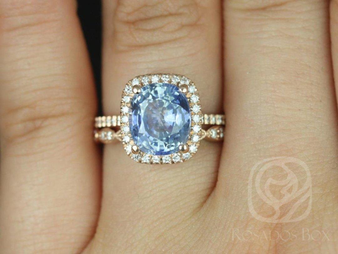 Blue Oval Romani Christie Sapphire Ring on Hand